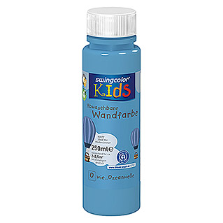 swingcolor KIDS Wandfarbe (Ozeanwelle, 250 ml, Matt)