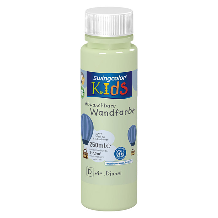 swingcolor KIDS Wandfarbe (Dinoei, 250 ml, Matt) -
