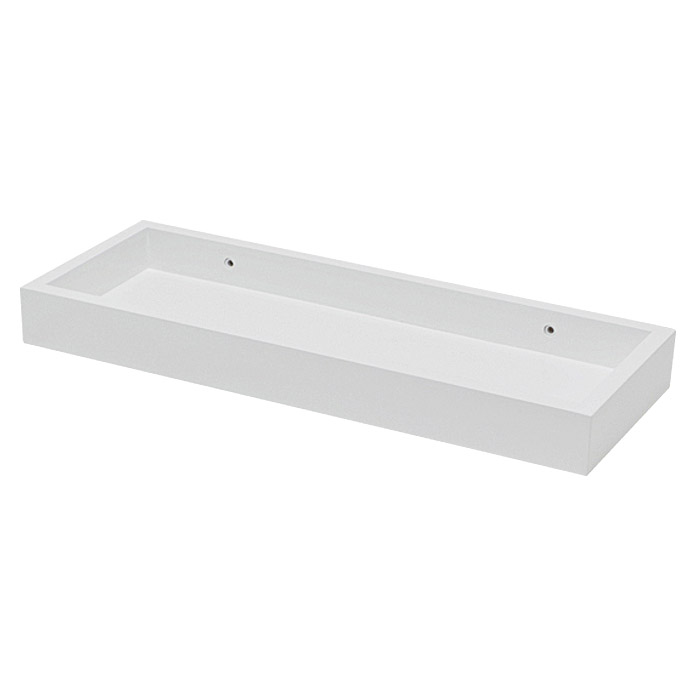 Duraline Wandregal Modern Shelf (40 x 15 x 4 cm, Weiß)