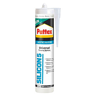Pattex Silicona Silicon 5 (Blanco, 280 ml)
