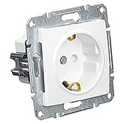 Schneider Electric Sedna Enchufe (Blanco, 1 canal, Aluminio, En pared)