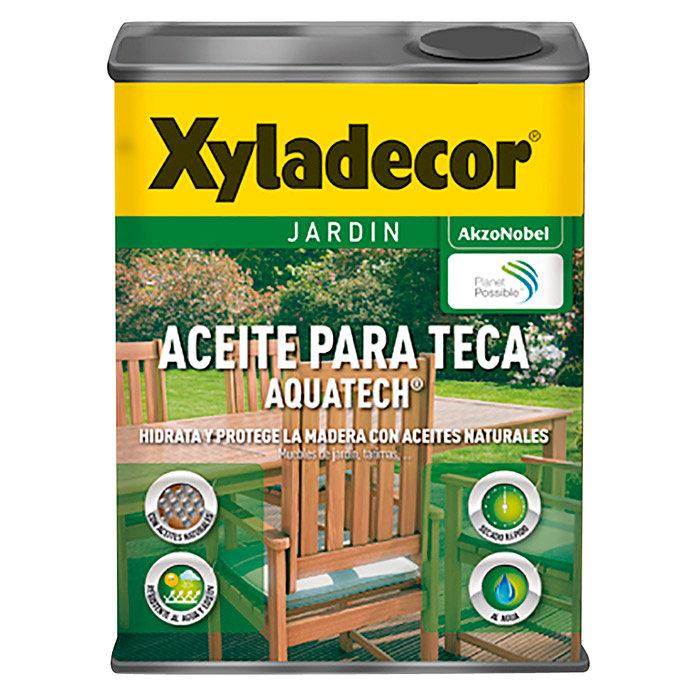 Xyladecor Aceite para teca Aquatech (Incoloro, 750 ml, Mate)
