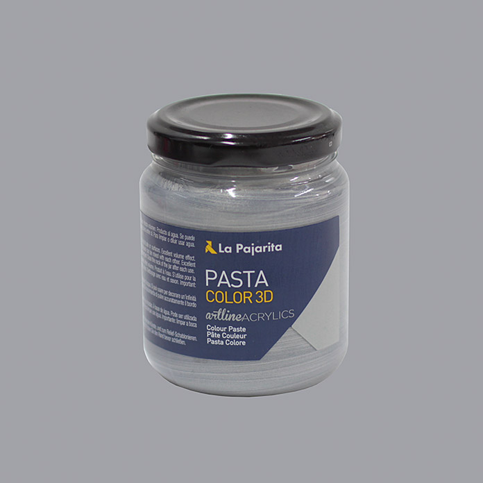 La Pajarita Pasta de color 3D 175 ml (Plateado)