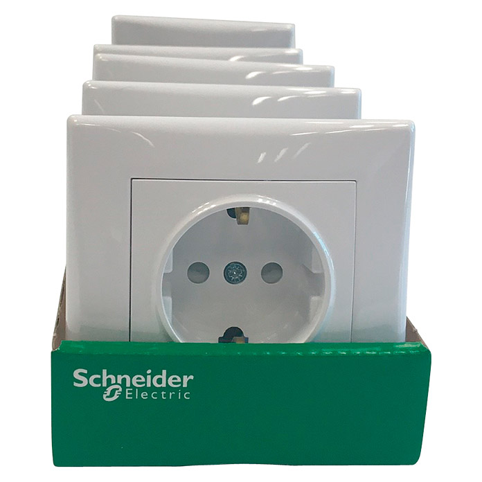 Schneider Electric Sedna Enchufe 5 uds (Blanco, IP20)