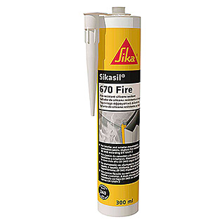 Sika Sellador elástico Sikasil-670 Fire (Blanco, 300 ml)
