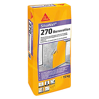 Sika Plaste Sikawall-270 Renovation (Blanco, 15 kg)