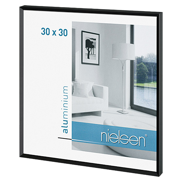 nielsen bilderrahmen pixel 30 x 30 cm matt schwarz. Black Bedroom Furniture Sets. Home Design Ideas
