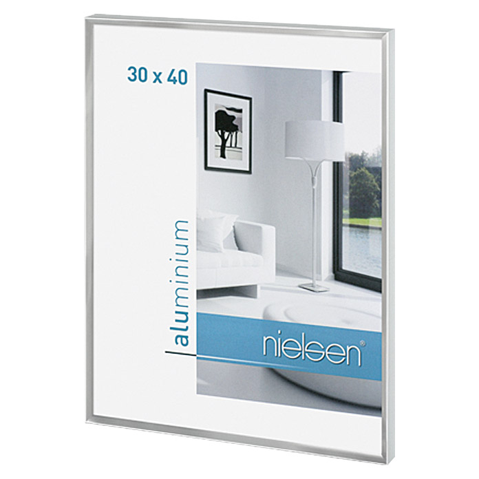 nielsen bilderrahmen pixel silber 30 x 40 cm aluminium. Black Bedroom Furniture Sets. Home Design Ideas