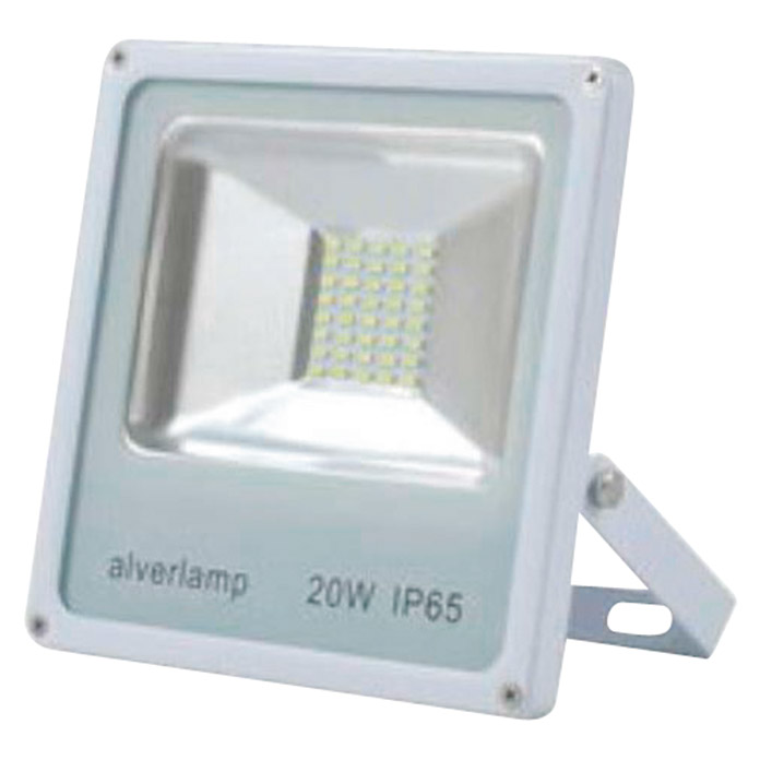 Alverlamp Proyector de LED LPRO41 (20 W, Color de luz: Blanco neutro, IP65, Blanco)