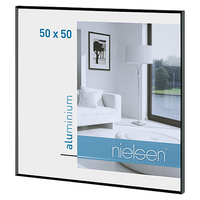 nielsen bilderrahmen pixel 50 x 50 cm matt schwarz bauhaus. Black Bedroom Furniture Sets. Home Design Ideas