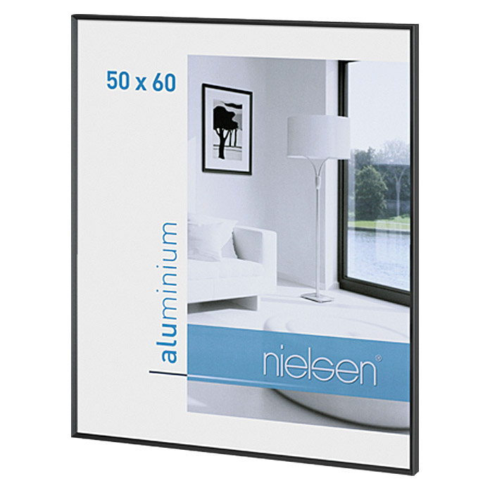nielsen bilderrahmen pixel 50 x 60 cm matt schwarz bauhaus. Black Bedroom Furniture Sets. Home Design Ideas