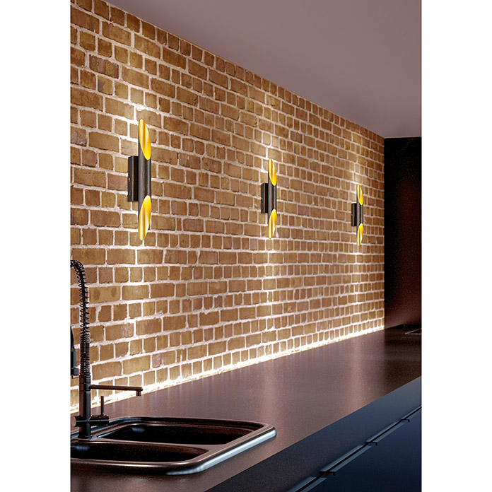 Reality Leuchten Aplique de pared LED Bolero (2 luces, 2 x 3,2 W, Blanco cálido)