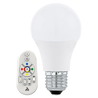 Eglo Connect Bombilla LED (Con mando a distancia, 9 W, E27, RGBW)