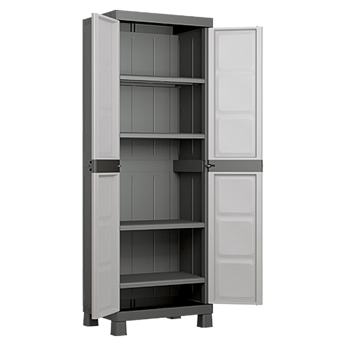 regalux systema kunststoffschrank hoch traglast 15 kg boden bauhaus. Black Bedroom Furniture Sets. Home Design Ideas