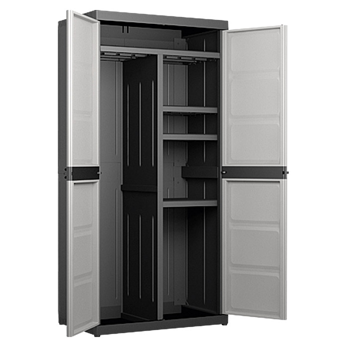 regalux systema kunststoff ger teschrank xl l x b x h 54 x 89 x 182 cm traglast 25 kg boden. Black Bedroom Furniture Sets. Home Design Ideas