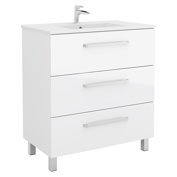 Mueble De Lavabo Mythos 450 X 797 X 868 Mm Blanco Bauhaus
