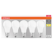 Osram LED-Leuchtmittel-Set Base Classic A (5 Stk., 9 W, E27, Warmweiß, Matt)