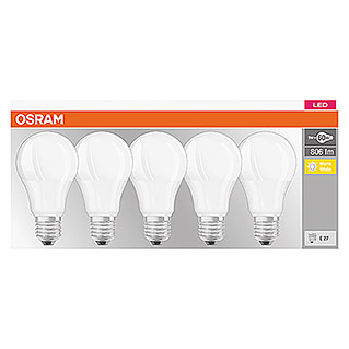 Osram Ledverlichting, set Base Classic A (5 stk., 9 W, E27, Warm wit, Mat)