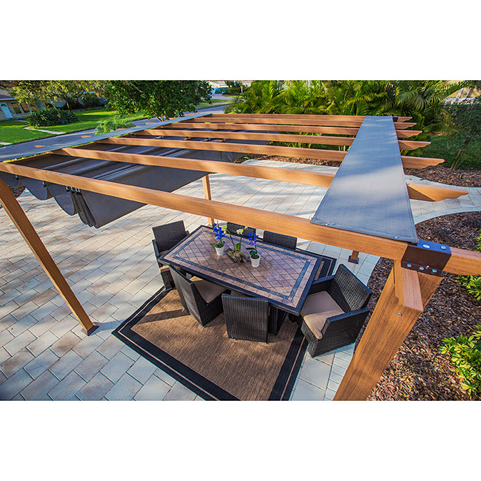Paragon Outdoor Raffpavillon Florida (350 x 350 cm, Braun)