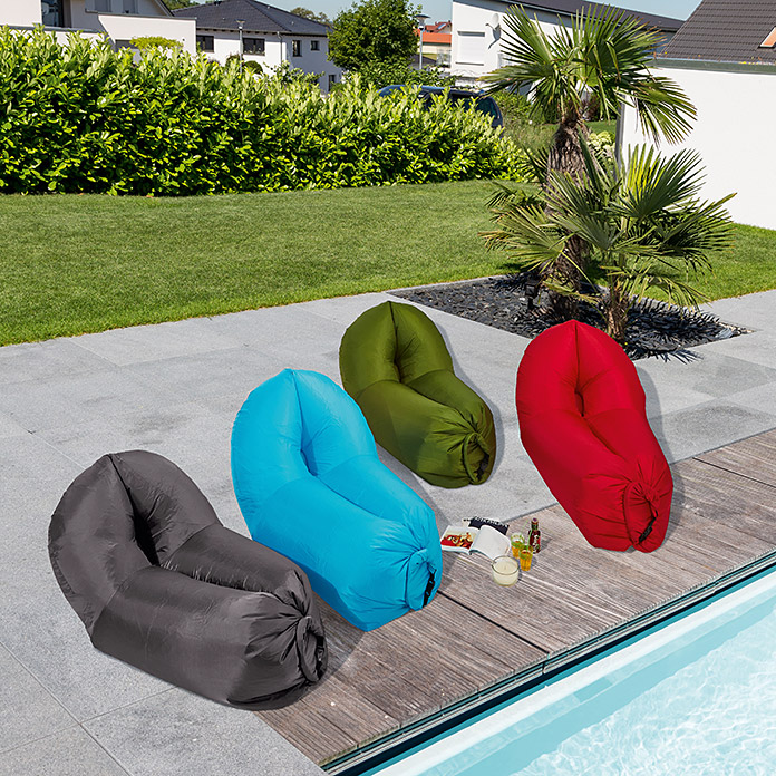 Air Lounge Sofa Peacock (L x B: 180 x 90 cm, Hellblau)