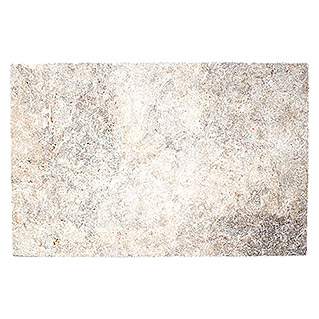 Antikmarmor Travertin (40,6 x 61 cm, Silber, Matt)