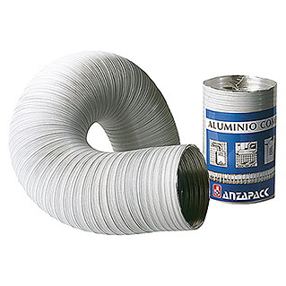 Tubo flexible de aluminio (Ø x L: 100 mm x 300 cm, Blanco)