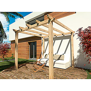 Pérgola Clasic Pie Natural (L x An x Al: 300 x 300 x 250 cm, Natural)