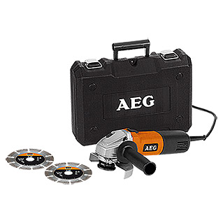 AEG Powertools Winkelschleifer WS 6-125 Diamantset (700 W, 125 mm, 10.000 U/min)