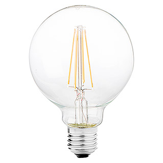 Bombilla LED Globo Transparente (6 W, E27, Color de luz: Blanco cálido, No regulable, Globo)