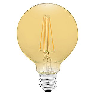 Bombilla LED Globo Gold (6 W, E27, Color de luz: Blanco cálido, No regulable, Globo)