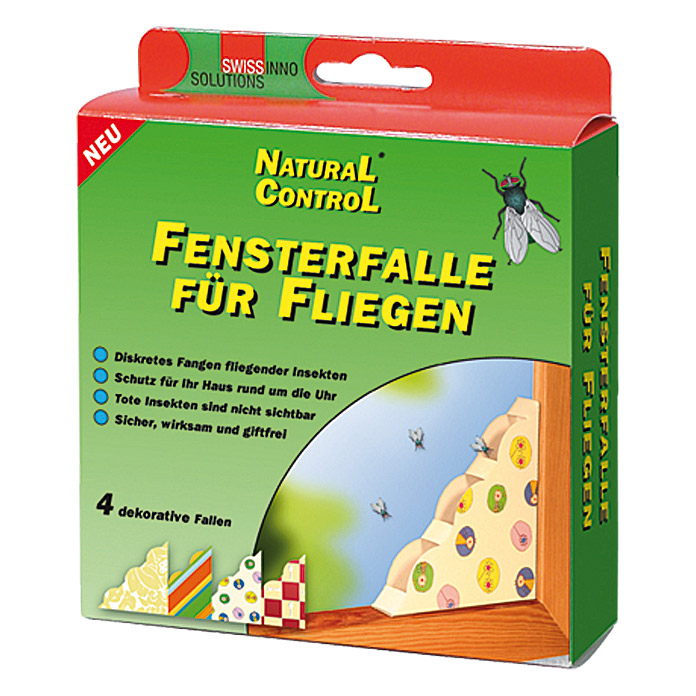 Swissinno Natural Control Fensterfalle  (4 Stk., Gemustert)