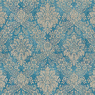 AS Creation Papel pintado de vellón Secret Garden (Azul/Gris, Floral, 10,05 x 0,53 m)(Azul/Gris, Floral, 10,05 x 0,53 m)