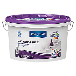 swingcolor Mix Latexfarbe Basis 1 (Basismischfarbe, 5 l, Seidenglänzend)