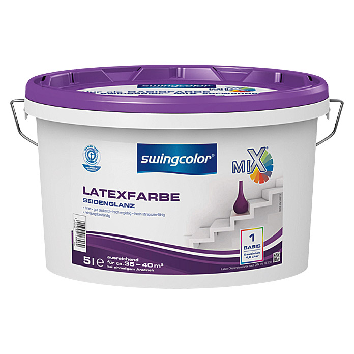 swingcolor Mix Latexfarbe  (5 l, Seidenglänzend)