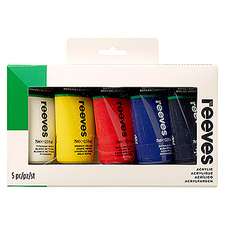 Reeves Acrylfarbenset (5 x 75 ml Tuben)
