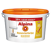 Alpina Dispersionsfarbe Renovierfarbe (Weiß, 12 l, Matt)