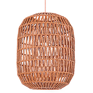 Home Sweet Home Rope Pendelleuchte rund (60 W, Farbe: Kupfer, Ø x H: 35 x 120 cm, Oval)