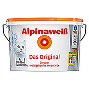 Alpina Dispersionsfarbe Alpinaweiß (4 l, Matt)