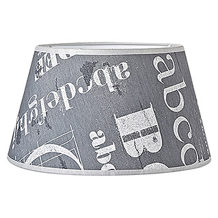 Home Sweet Home Lampenschirm Letters (25 cm, Grau, Baumwolle, Oval)