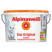 Alpina Dispersionsfarbe Alpinaweiß (2 l, Matt)
