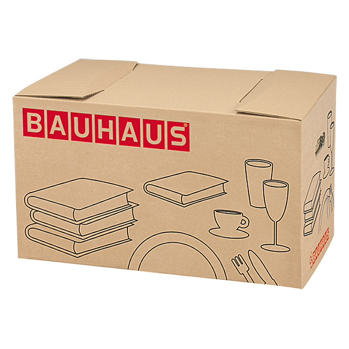 bauhaus b cher geschirrbox traglast 40 kg 58 x 33 x 33 5 cm 1407 umzugskartons aajc. Black Bedroom Furniture Sets. Home Design Ideas