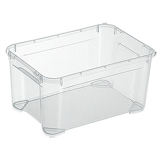 Regalux Clear Box XXS (L x An x Al: 25,6 x 18,1 x 13,6 cm, 4 l, Transparente)