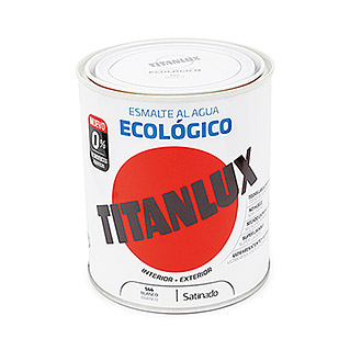 Titanlux Esmalte de color Eco (Blanco, 750 ml, Satinado)