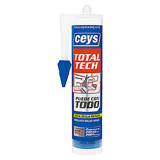 Ceys Adhesivo y sellador Total Tech (Incolora / Transparente, 290 ml)