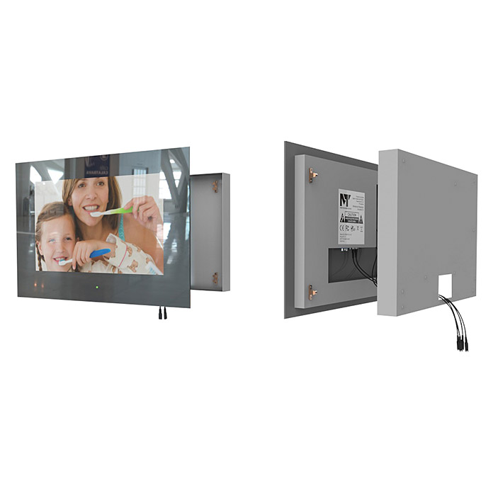 Mues-Tec Badezimmer-TV (Mit Glasfront, LED Display 18,5″/47 ...