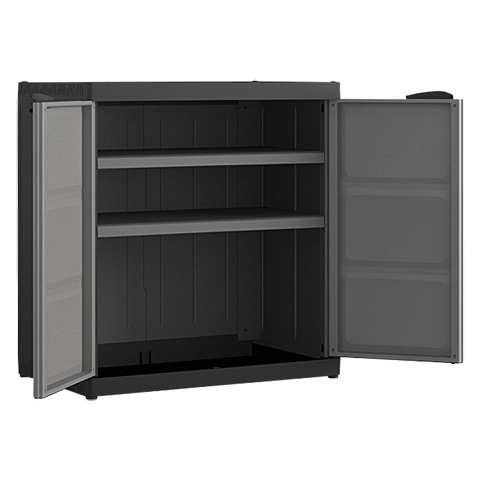 regalux systema kunststoffschrank xl niedrig traglast 25 kg boden. Black Bedroom Furniture Sets. Home Design Ideas