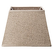 Home Sweet Home Lampenschirm Melrose (L x B x H: 14 x 20 x 14 cm, Taupe, Stoff, Eckig)
