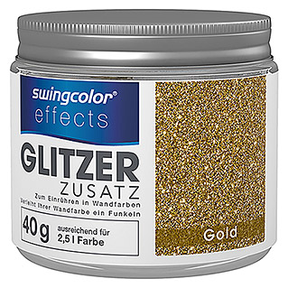 swingcolor effects Glitzereffekt-Zusatz (Gold, 40 g)