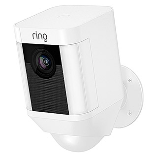 Ring Überwachungskamera Spotlight Cam Battery (Weiß, Akku, 2 Wege Kommunikation, IP64)
