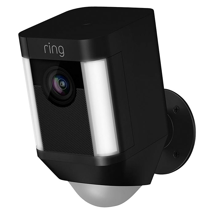 Ring Türkamera Spotlight Cam Battery (Schwarz, Akku, 2 Wege Kommunikation, IP64)